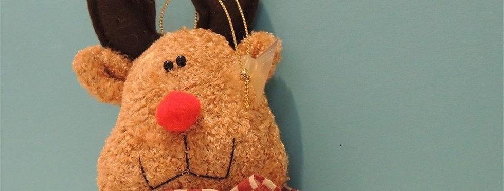 Christmas Ornament - Plush Reindeer