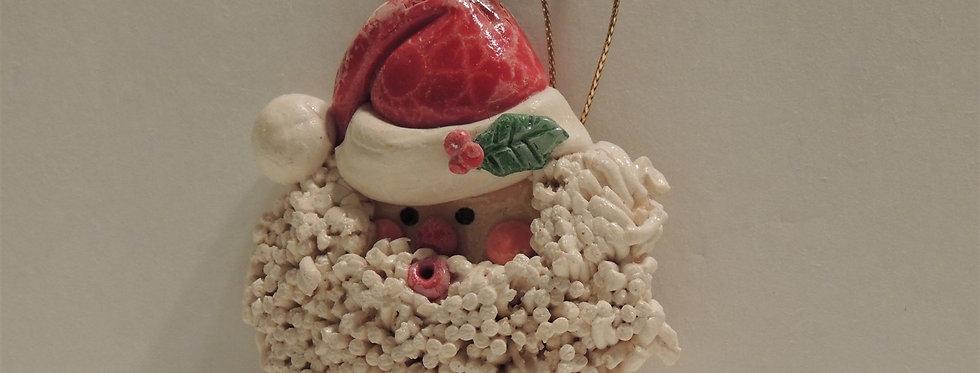 Christmas Ornament - Handmade Santa Face Dough