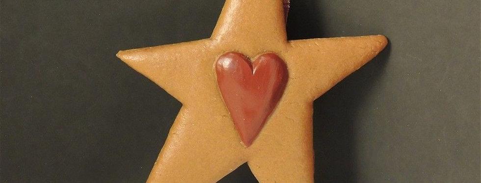 Christmas Ornament - Handmade Cookie star