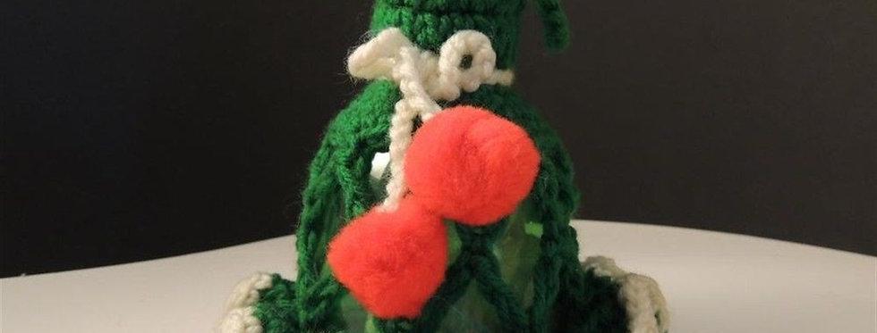 Christmas Ornament - Green handmade crochet bell