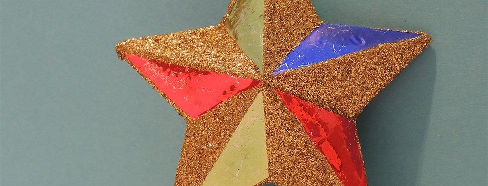 Christmas Discount - Tri color Foil Star Ornament