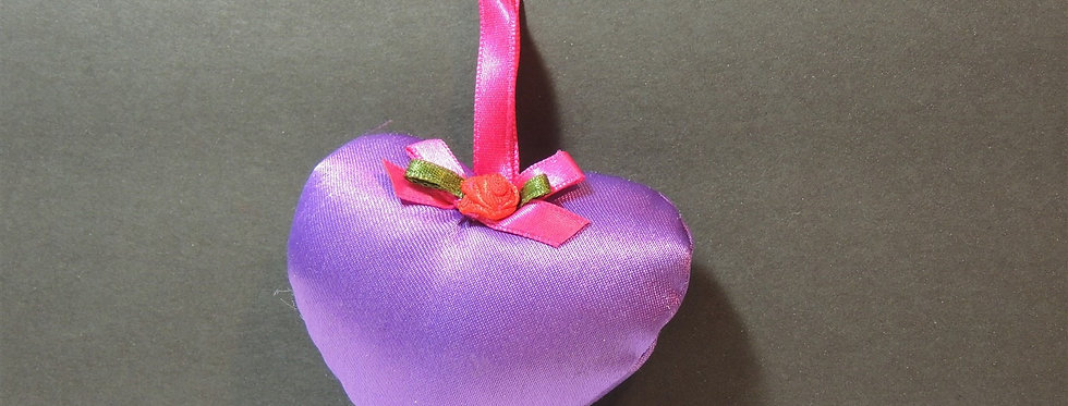 Christmas Ornament - Plush Purple Heart