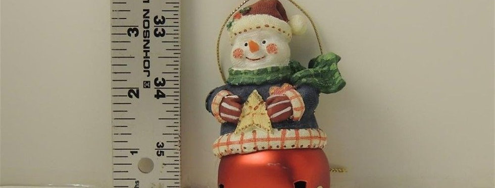 Christmas Ornament - Snowman on a bell