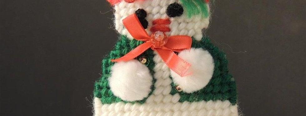 Christmas Ornament - Plastic canvas snowman