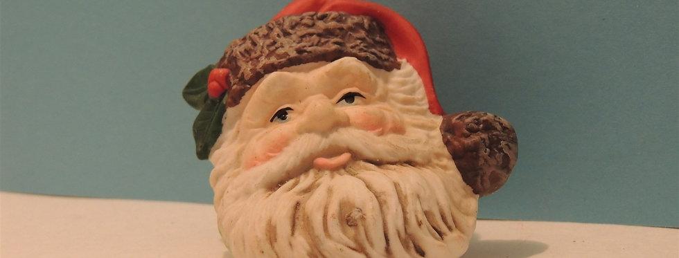 Christmas Ornament - Vintage Ceramic Santa Head