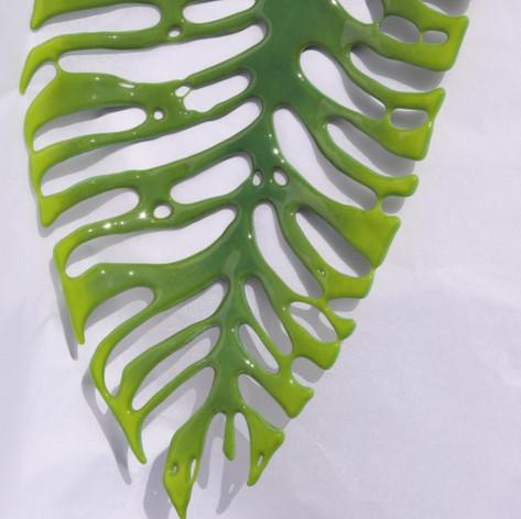 Large Glass Nikau Leaf  2019