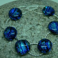Blue 5 loop Bracelet.