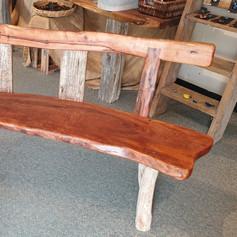 Pohutukawa Driftwood Bench Seat.