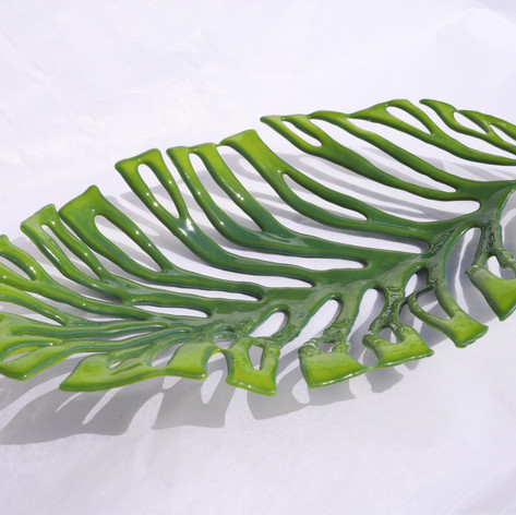 Nikau Leaf Small 3d Plate.