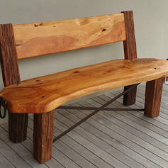 Macrocarpa& Totara  Bench Seat.
