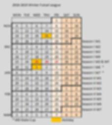 Winter Futsal League Calendar with Tourn