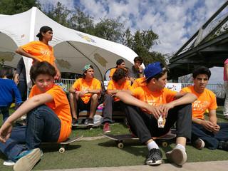 Primera participación torneo interescolar de skate, Las Condes.
