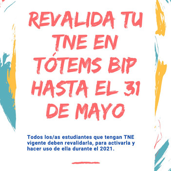 REVALIDACIÓN TNE 2021
