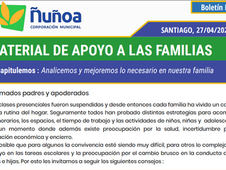 Material de apoyo a las Familias.