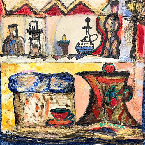 Morning Tea 12x12 inches