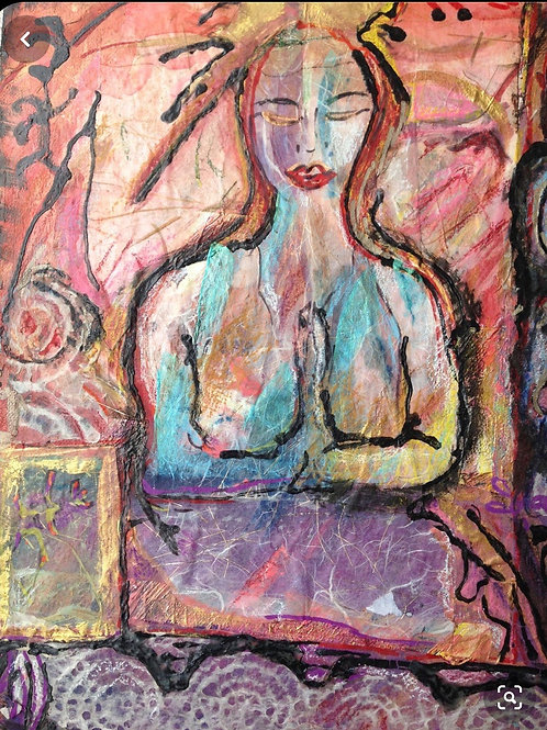 The Meditator 8.5x11 inches