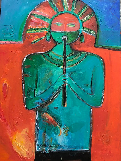 The Flautist 30x40 inches