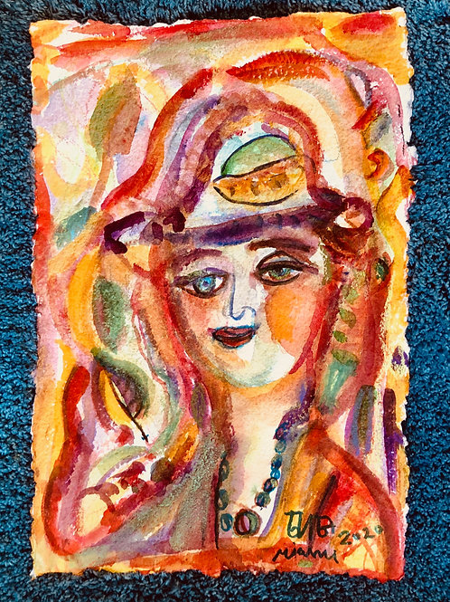 Town Lady 18x12 inches