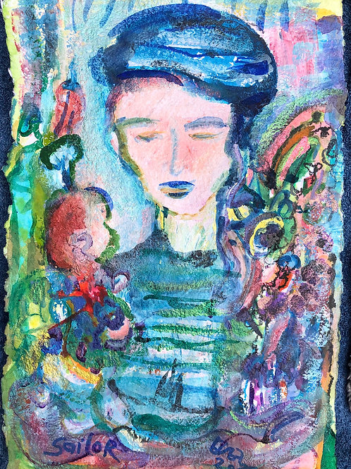 Woman of Lapis 12x19 inches