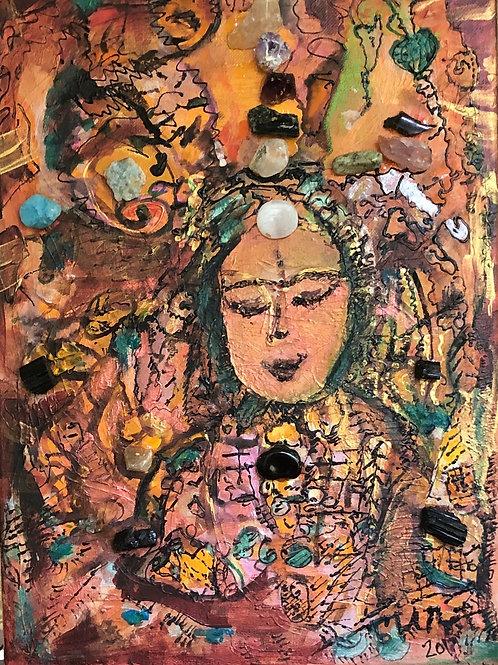 Zestful Buddha 12x16 inches