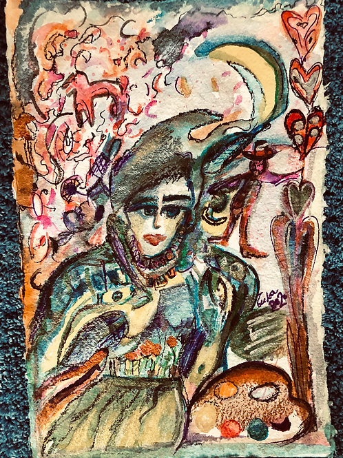 The Loving Jester 18x12 inches
