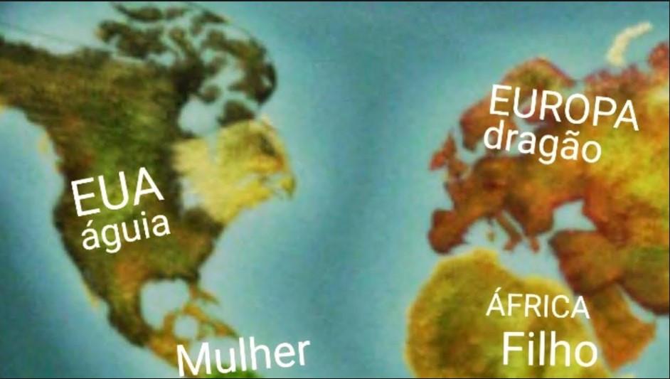 Mapa Mundi Revela o Apocalipse 12 Veja também O Mistério Revelado do Nome Brasil
