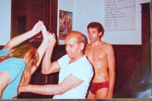 Larry Schultz with Pattabhi Jois