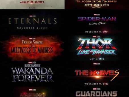Confira as datas dos próximos filmes do MCU