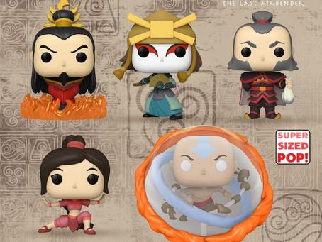 """Novos POPs de """"Avatar: O Último Mestre do Ar"""" estão em pré-venda na GG"""