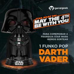 Participe e concorra a um Funko POP! do Darth Vader