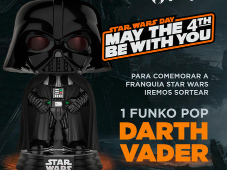 Participe e concorra a um Funko POP! do Darth Vader