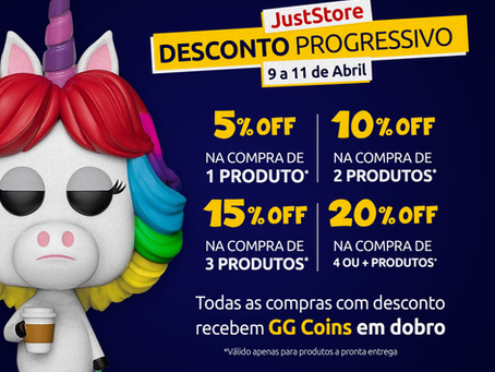 [Promoção] Desconto progressivo com a Just Store Brasil