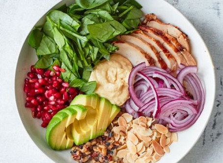 Chicken hummus bowl