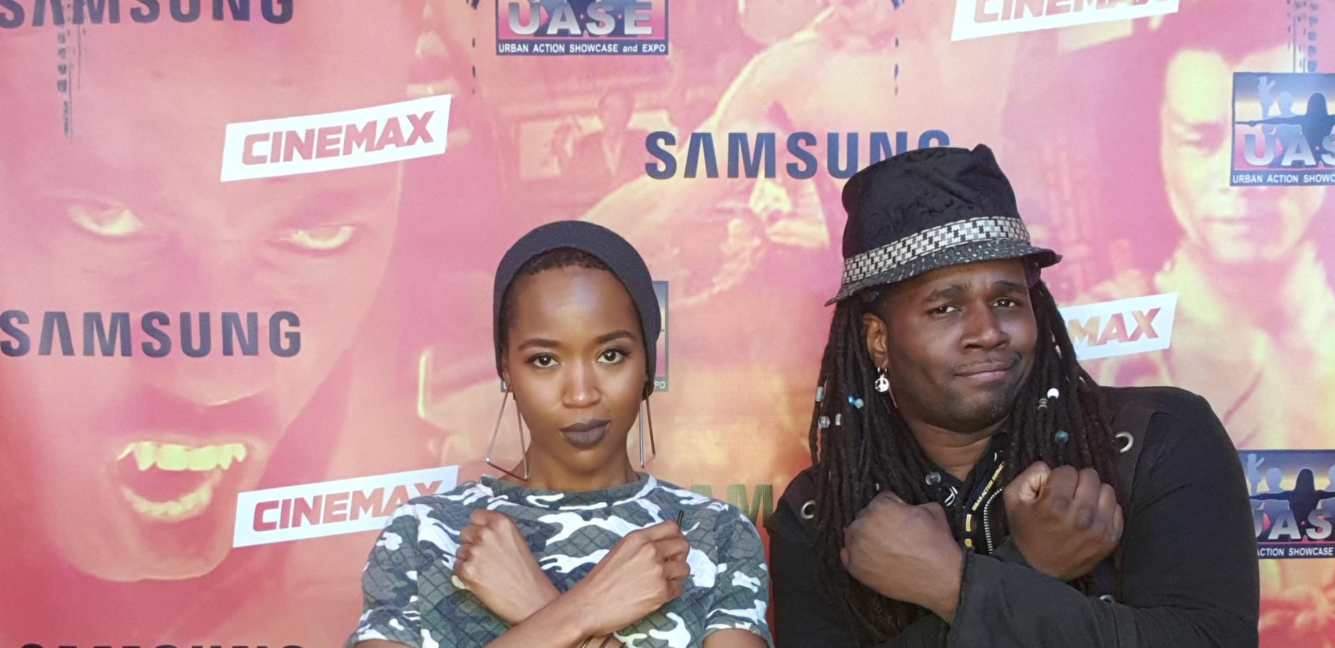 With Black Panther Dora Milaje actress at Urban Action Showcase