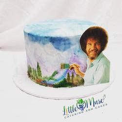 Bob Ross Cake