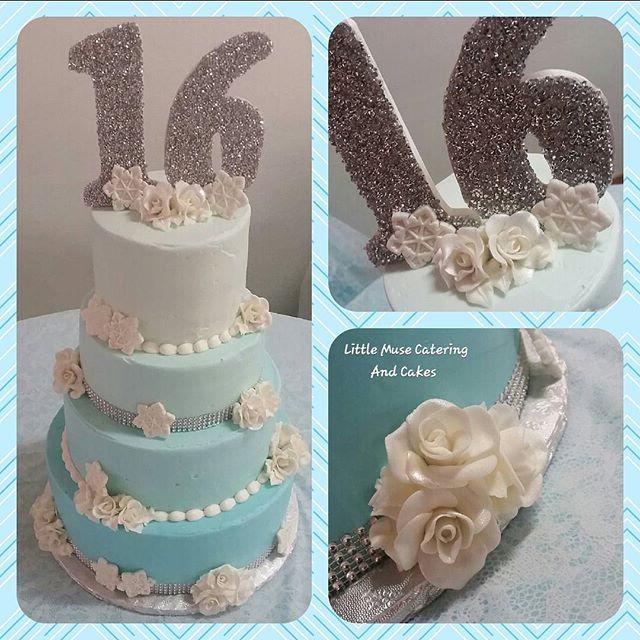 Happy #sweet16 Kayla! #ombre #handmade #roses #bling