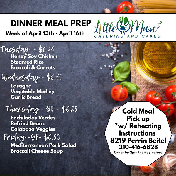 Dinner Meal Prep 413-416 - Made with Pos