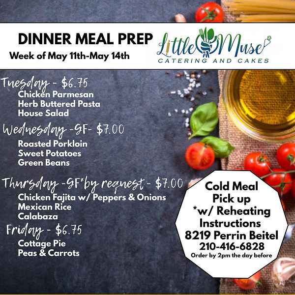 Dinner Meal Prep 511-514 - Made with Pos