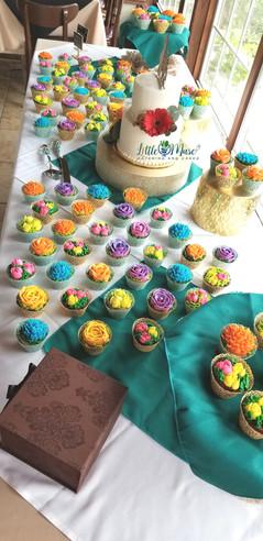 Fiesta Flower Cupcakes