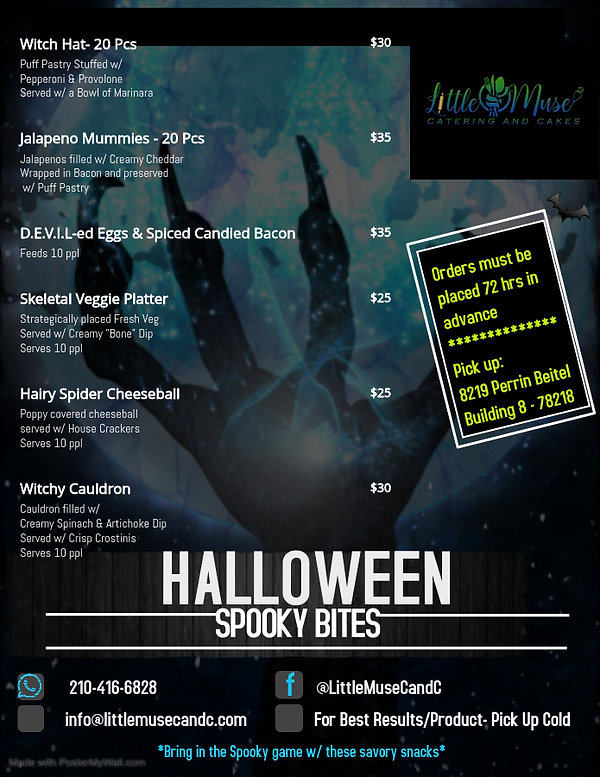Halloween flyer Savory 2020 - Made with