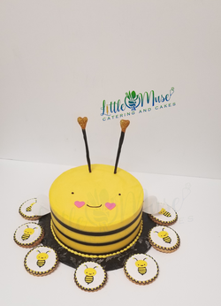 baby bee cake and cookies 12-2019