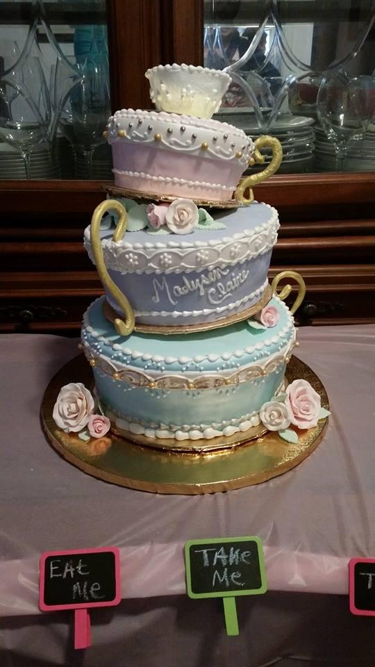 Tea Pot Stacked Cake
