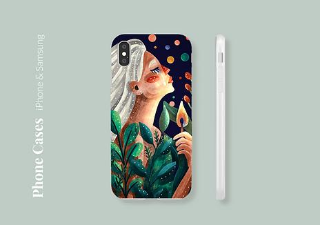 Beautiful illustated phone cases