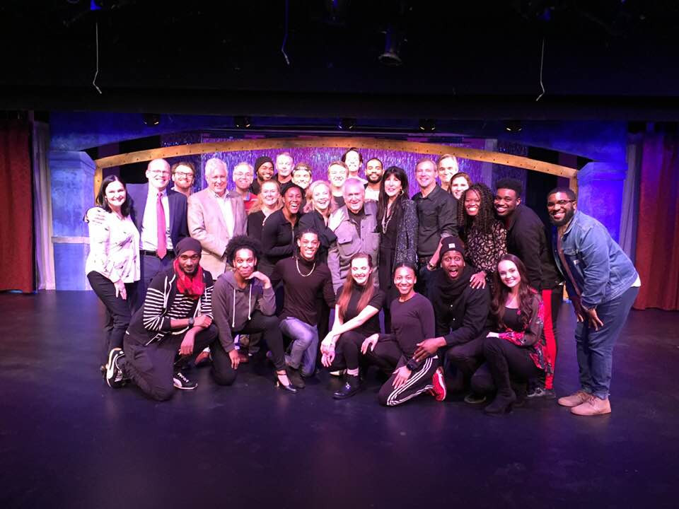 Cast photo with Susan Stroman, John Kander, and Tommy Thompson