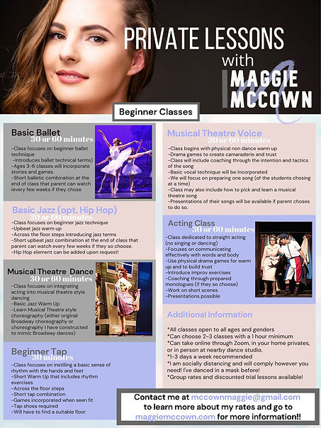 Maggie McCown Beginner Dance Classes 202