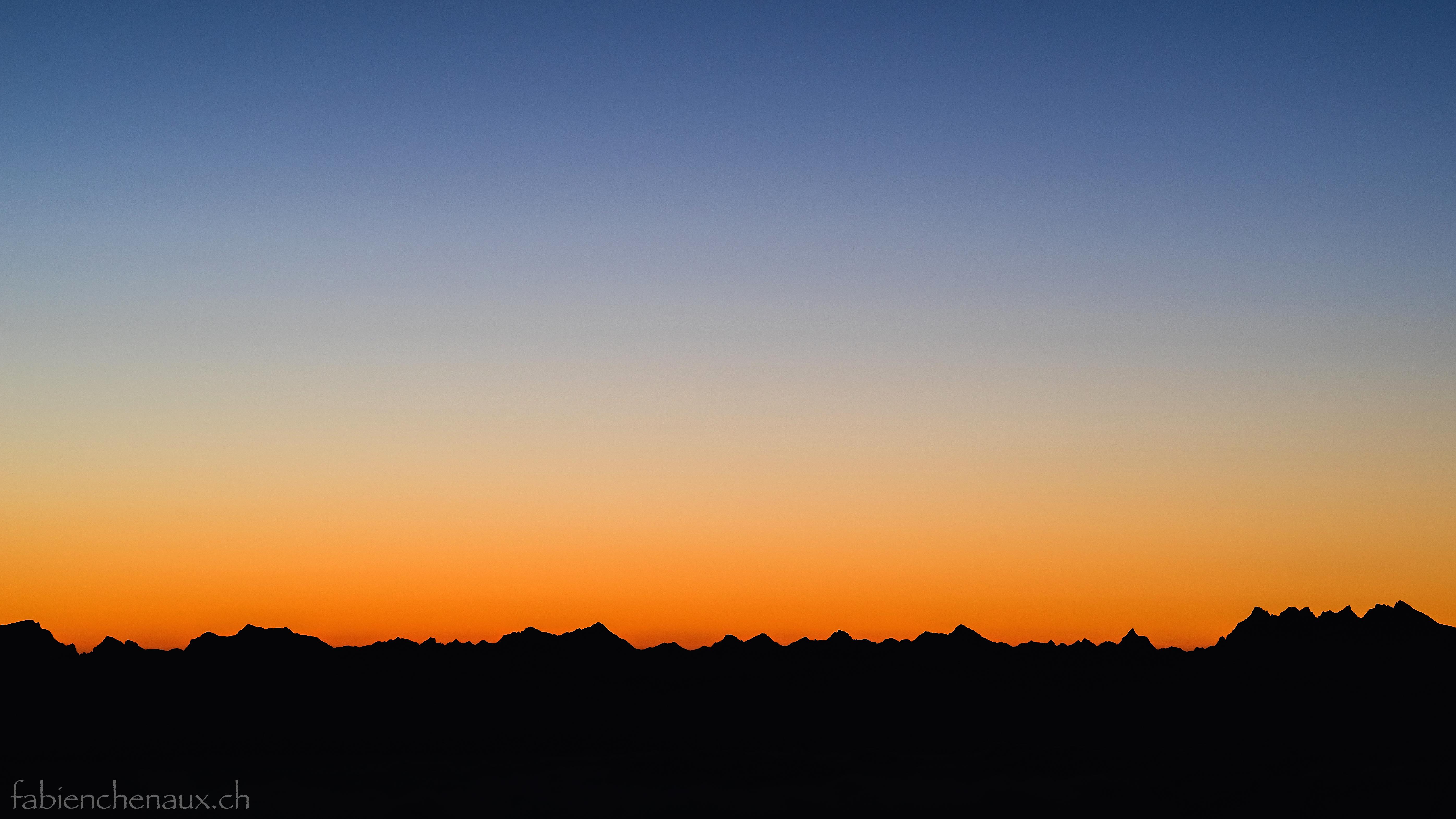 Silhouettes alpines...