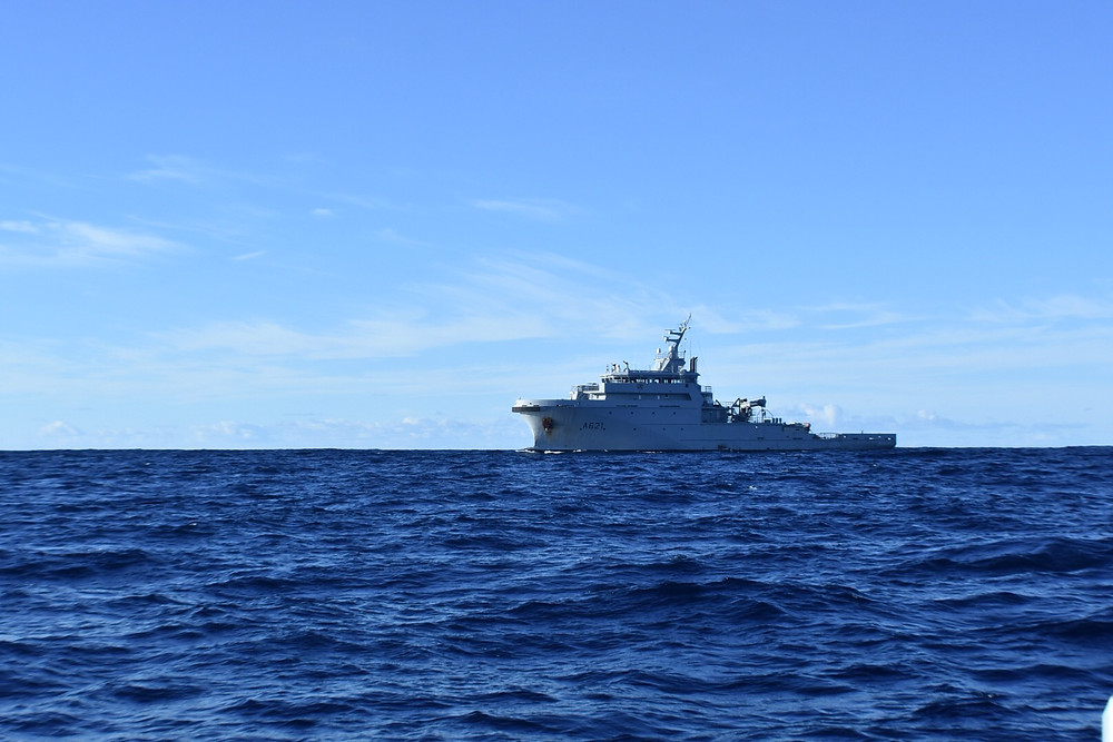 French Navy ship that woke me up with their Horn while I was sleeping at the EEZ