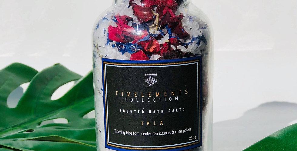 JALA scented bath salts - Tigerlily blossom, centaurea cyanus & rose petals