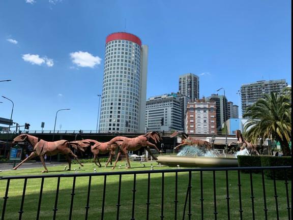 Tropilla de 5 Caballos, Hotel Four Seasons, Bs As, Argentina.