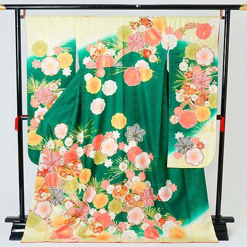 緑 毬と梅に楓(R1716)